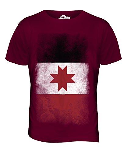 CandyMix Udmurtien Verblichen Flagge Herren T Shirt Burgunderrot