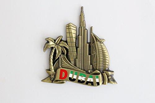 Stylischer Metall-Magnet für den Kühlschrank, Küchen-Magnet, einzigartiges Design, Heimdeko, Urlaubs-Souvenir, Geschenk aus Paris, Venedig, Rom, Prag, Barcelona, Amsterdam, New York, Dubai, Thailand, Dubai