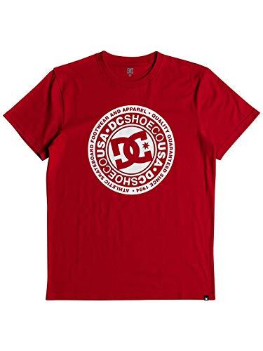 DC Apparel Herren Circle Star Tee-Shirt, Racing Red, M