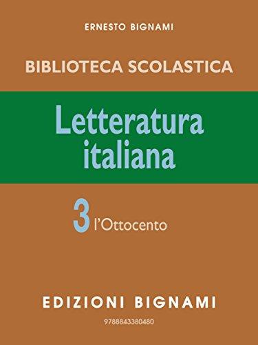Letteratura Italiana 3: 3\1