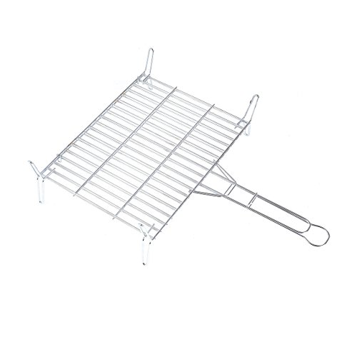 rayen-aa96-stainless-steel-bbq-grill-rack-chrome-grey-grey-40x40x15-cm