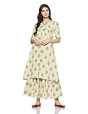 Gerua Women's A Line Salwar Suit Set