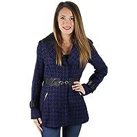 Jessica Simpson Houndscheck bavero da donna, in lana, con intagli