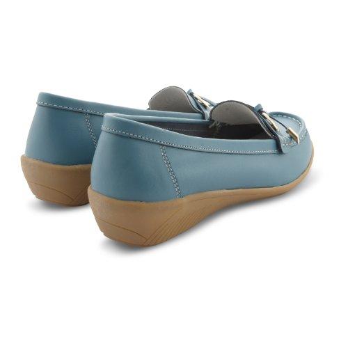 Footwear Sensation , Damen Mokassins Schwarz schwarz Blaugrün