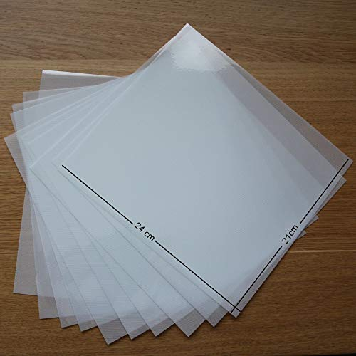 T S S Transferpapier/Folie, 210 mm x 240 mm, Acryl, Strasssteine, für viele Verwendungszwecke geeignet, 10 Bögen -