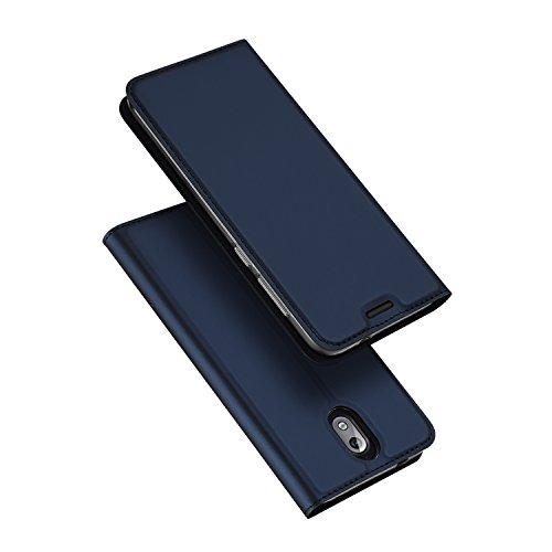 DUX DUCIS Cover Nokia 3.1,Flip Folio Case,Funzione Stand,1 Slot Carte,Magnetica,Ultra Slim Custodia per Nokia 3.1 (Blu)