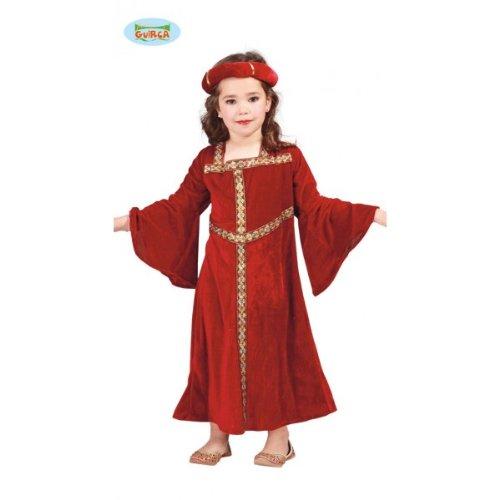 Guirca grafoplas Disfraz Dama Medieval niña, Color Rojo, 81287