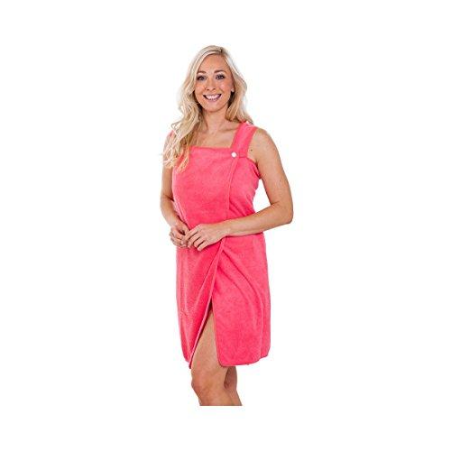 TRI Strandhandtuch, Kleid Handtuch, Strandkleid, Badetuch, Saunatuch, Sauna-Kilt, Polyester, pink, 150 x 73 cm