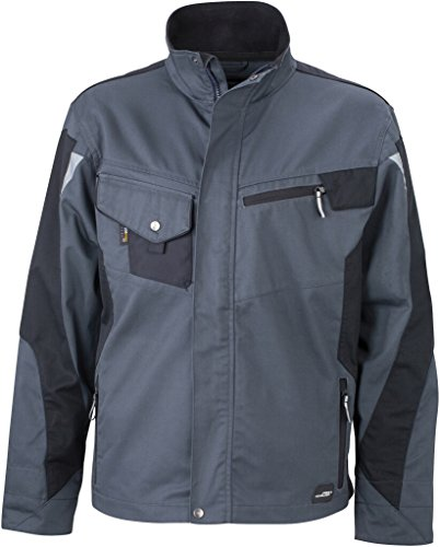 JAMES & NICHOLSON Professionelle Jacke mit hochwertiger Ausstattung Carbon/Black