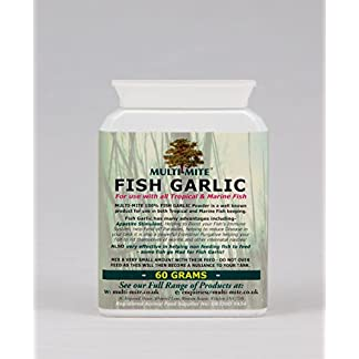 Multi-Mite® FISH GARLIC 60 Grams. Tropical, Marine or Freshwater Feed additive to Help Fish Eat! Multi-Mite® FISH GARLIC 60 Grams. Tropical, Marine or Freshwater Feed additive to Help Fish Eat! 41XniPm916L