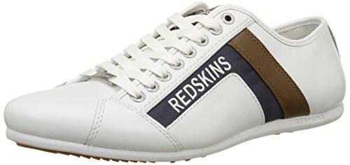 RedskinsSabro - Sneaker Uomo , Bianco (Blanc (Blanc/Camel/Navy)), 43