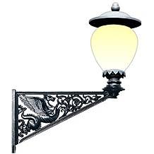 APAC Leuchten STADT 11EI Historische Leuchte mit Wandarm Pegasus und Leuchtenglas Potsdamer Ei