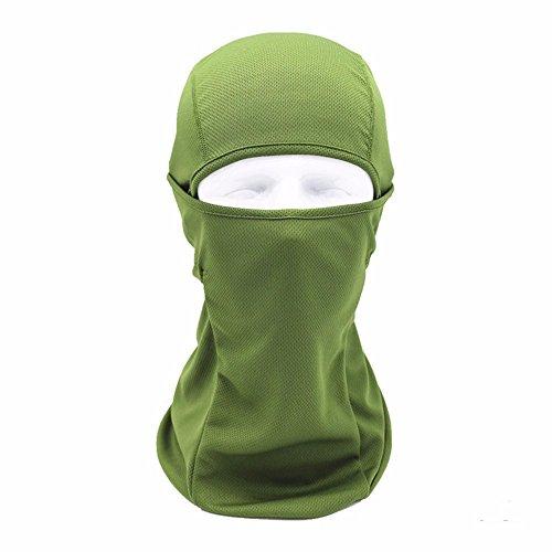 Motorrad fahren Kopfbedeckungen Windschutz Mühle Motorrad Kopfbedeckungen, Army (Maske Ski Green Skull)