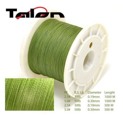 1000m Talon Dyneema Braided 50lb Fishing Line From Uk from TALON