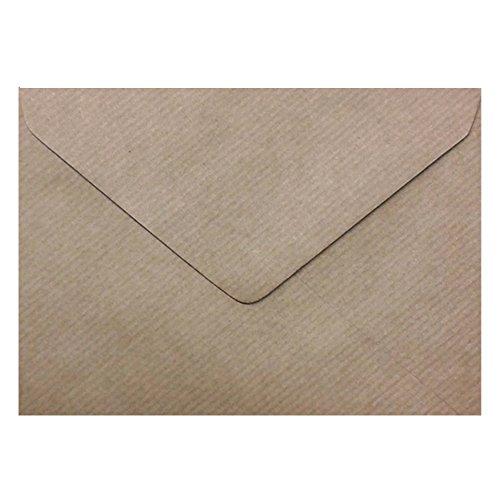 75, Vintage Brown Kraft gerippte Briefumschläge mit 7x 5cm-175mm x 125mm (Umschläge Versand 5x7 Kostenloser Mit)
