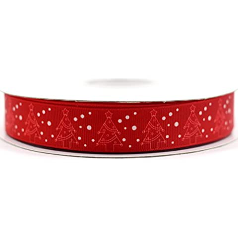 Midi nastro Natale Merry Christmas stampa grosgrain ribbon-7/8