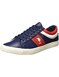 U.S.Polo Assn. Men's Porter Navy Leather Sneakers-9.0 UK/India (43 EU) (2531914779)