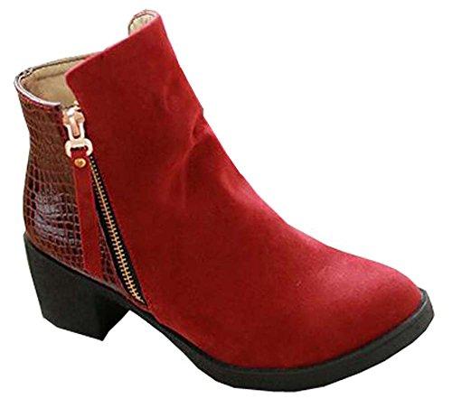 Inverno Botas Salto E Outono Vermelhos De Femininos Alto Sapatos De 1ZgRq