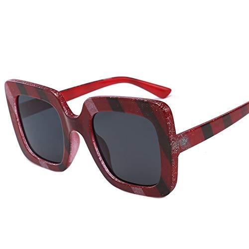 sijiaqi New Rainbow Farben Bling Dots Sonnenbrille Frauen Sqaure Brillen Oculos De Sol Feminino,red dots