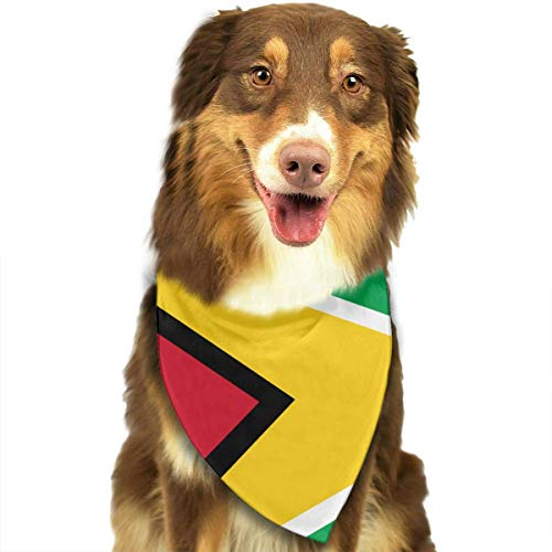 Rghkjlp Dogs Bandana Collars Guyana Flag Pets Triangle Neckerchief Puppy Bibs Scarfs Cats Scarfs Towel