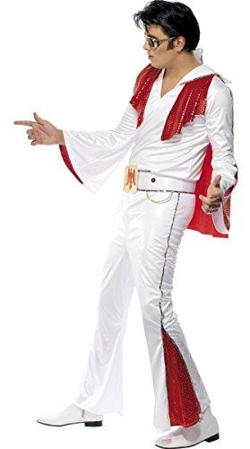 Herren-Kostüm, Elvis, 50er Jahre, mit Pailletten, Rock n Roll Star Decades, Größe M/L