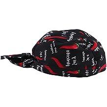 perfk Sombrero de Cocinero Gorro de Trabajo Cocina Duradero Flexible Ajustable Cómodo de Usar - rojo