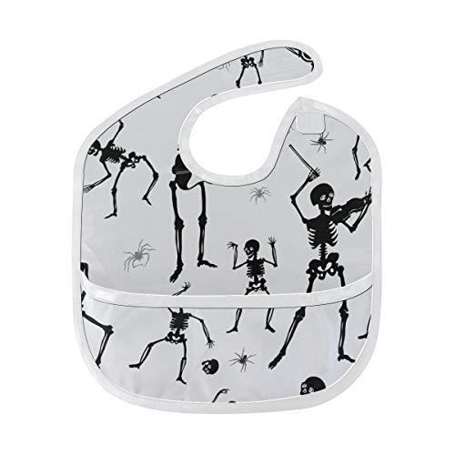 Zemivs Coole Mode Tanz Skelett Gewohnheits weicher wasserdichter Fleck Geruch beständiges Baby das Dribble Geiferlätzchen Lätzchen spuckt Tücher für Säuglingsoverall für 6-24 Monate Kindergeschenk