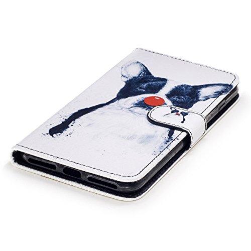 EUWLY Case Cover per iPhone 7 Plus (5.5),Ultra Slim Sottile Custodia Protettiva Portafoglio pelle PU Case Lusso Flip Stand Slot Funzione di Supporto Leather Wallet Case per iPhone 7 Plus (5.5)-Gatti Cucciolo Brutto