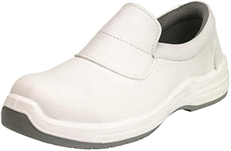 GSA 1034319005 par de zapatos bajos Puron White S2 SRC ESD, blanco, 39