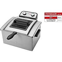 ProfiCook PC-FR 1038 Freidora de Acero Inoxidable, 5 litros, 3 cestas,