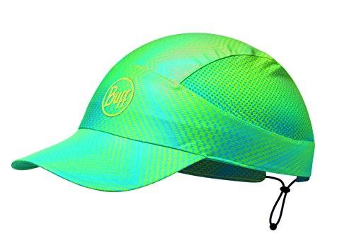 BUFF CAP avec Visière et 98% UV Protection, Polyester, one size BUFF CAP avec Visière et 98% UV Protection, Jam Lime, vert/bleu Polyester, one size
