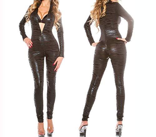 (Z-SANMAO Sexy Lady Cat Kostüm Schlangenleder Streifen Club DS Paint Club Set Enge Kleidung Catwoman Kleidung Einteilige Kleider Einzelne Partykleidung M-XL-2XL,XXL)