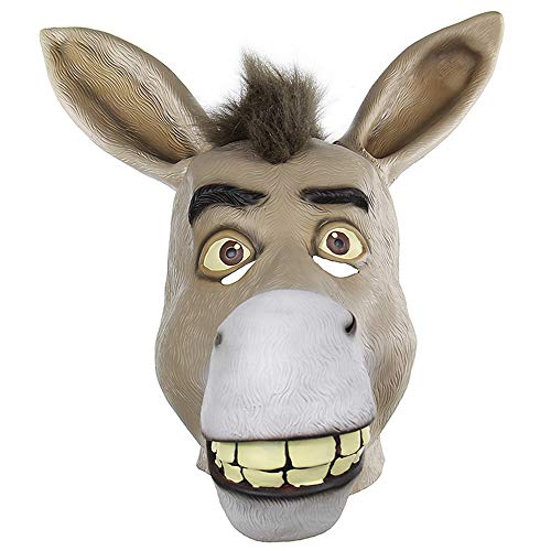 (Lustige Tier Schädel Set Bar Fasching Kleid Party Lustig Anziehen Requisiten Halloween Lustige Ganze Latex Maske WUHX)
