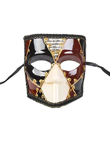Kostüm Venezianische Bauta - Zhhlaixing Maskerade Maske Mens Woman Karierte Maske Kostüm Cosplay Maske Griechisch Römische Partei Maske Karneval Karneval Halloween Bauta Maske für Hochzeitsfeier Ball Prom