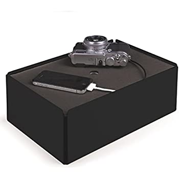 Charge Box SL12 Kabelbox Schwarz/Filz Grau