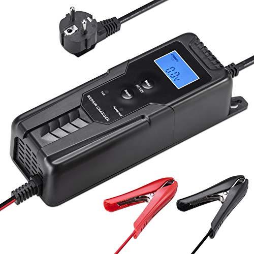 LOHOTEK 6V/12V Cargador/Mantenedor de Batería con Cargador de Cepo de Cable para...