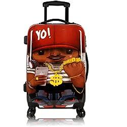 Maleta de cabina Equipaje de mano 55x40x20 Maleta juvenil trolley de viaje Ryanair Easyjet de TOKYOTO LUGGAGE Maleta de viaje Rígida RAPPERIST (Preparada para cargar Móviles) (SOLO MALETA)