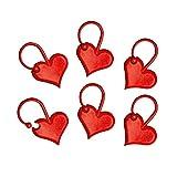 ADDI Love Maschenmarkierer, Kunststoff, rot, 1 x 1 x 1 cm, 6-Einheiten