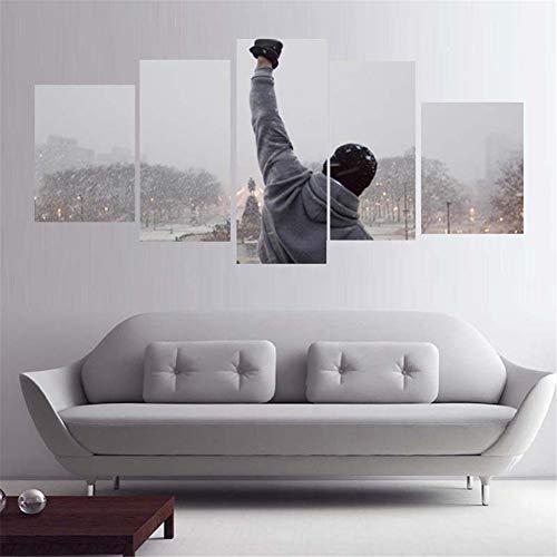 RSDPJ Leinwand Wandbehang 5 Bord HD Druck Gemalte Menschen Hände Wohnzimmer Dekorative Malerei Leinwand Kunst Wand 5 Poster Bild Dekoration Druck,20X35*220X45*220X55*1(cm)