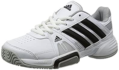 adidas Boy's Barricade Team 3 XJ Core White, Core Black and Clear Onix  Sports Shoes - 5 UK