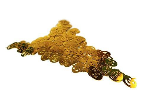 versandhop 15g Konfetti Kürbis Gold Pumpkin Metallic Glitzer Streu Tisch Deko Party Hochzeit Basteln Weihnachten