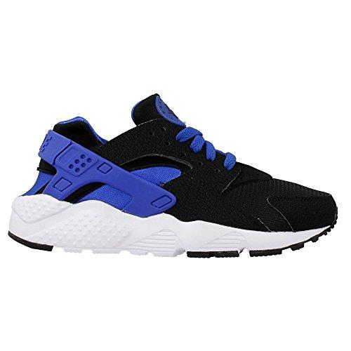 Nike Huarache Run Gs, Sneaker a Collo Basso Bambino black lione blu bianco bianco 005