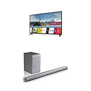 lg bundle 49uj630v 49 inch 4k ultra hd hdr smart led tv and sj5 soundbar tv. Black Bedroom Furniture Sets. Home Design Ideas