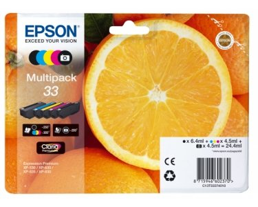 Preisvergleich Produktbild Epson EP64527 Tintenpatronen 5er Pack