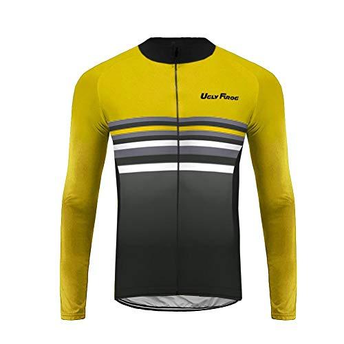 Uglyfrog Abbigliamento Ciclismo Uomo Ciclismo Maglia Traspirante Asciugatura Veloce Bicicletta Lunga Manica Camicia CXMX03