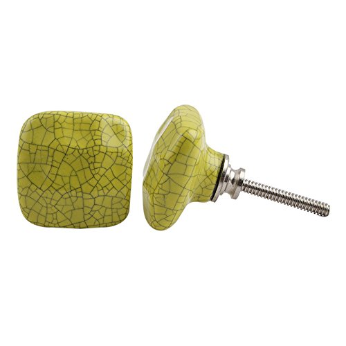 IndianShelf 10 pieza Juego de Hecha a mano tiradores de pomos de cerámica gris cajón Dresser tirador de puerta