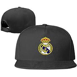JBECuooP Los Vikingos Real Madrid C.F. Club de fútbol Gorra - Negro -
