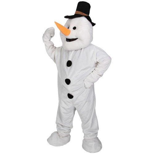 (O) Erwachsene Giant Deluxe Maskottchen Kostüm for Tiere Creatures Kostüm Herren Damen Einheitsgröße Snowy Schneemann (Herr Schneemann Erwachsene Herren Kostüme)