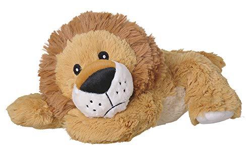 Welliebellies Wärmekuscheltier für Kinder - Wärmekissen gegen Schmerzen und zum Wohlfühlen - Wohltuender Kräuterduft durch Rosmarin und Lavendel, Eukalyptus & Pfefferminz - groß (Löwe)