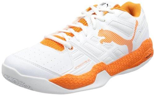 Puma Vindicate 3.2, Chaussures indoor homme Blanc - Weiß (white-vibrant orange 01)